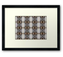 Feather Droplets Pattern Framed Print
