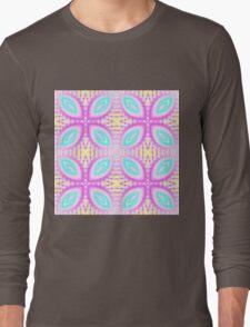 Sweet pastel kaleidoscope pattern Long Sleeve T-Shirt