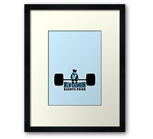 Heavy Baby Weight lifter VRS2 Framed Print