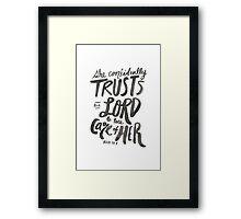 Psalm 112: 7 Framed Print