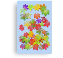 Falling Maple Leaves Canvas Print