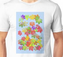 Falling Maple Leaves Unisex T-Shirt
