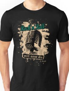 Rock-n-Roll Microphone - green Unisex T-Shirt