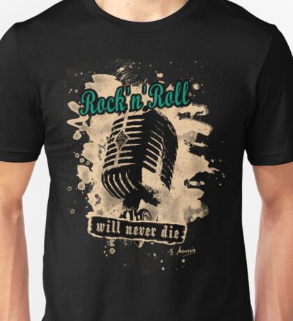 Rock-n-Roll Microphone - green Unisex T-Shirt