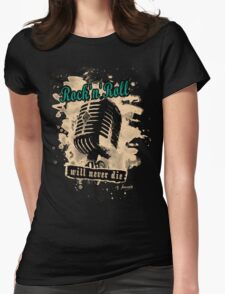 Rock-n-Roll Microphone - green Womens Fitted T-Shirt