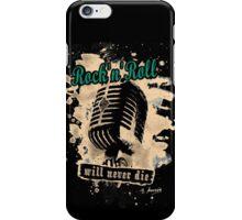 Rock-n-Roll Microphone - green iPhone Case/Skin