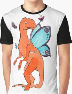 Butterfly Fairy Velociraptor  Graphic T-Shirt