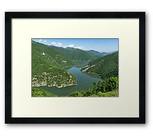 Green Mountains, Spilling in the Lake Framed Print