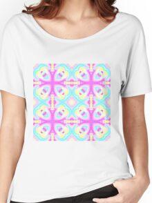 Pastel kaleidoscope design Women's Relaxed Fit T-Shirt