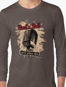 Rock-n-Roll Microphone - red Long Sleeve T-Shirt