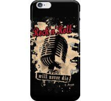 Rock-n-Roll Microphone - red iPhone Case/Skin