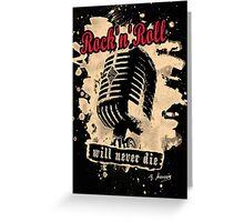 Rock-n-Roll Microphone - red Greeting Card