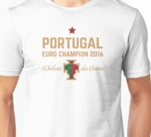 Portugal Euro 2016 Champions T-Shirts etc. ID-1 on White Unisex T-Shirt