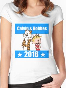 Calvin and Hobbes 2016 Women's Fitted Scoop T-Shirt