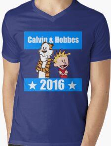 Calvin and Hobbes 2016 Mens V-Neck T-Shirt