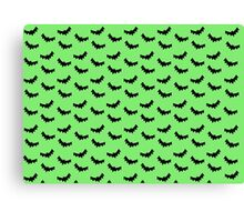 Batty - Green Canvas Print
