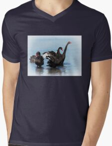 Black Swans Mens V-Neck T-Shirt