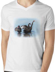 Black Swans Mens V-Neck T-Shirt