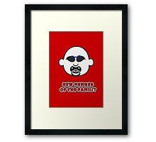 Baby Gangsta Face VRS2 Framed Print