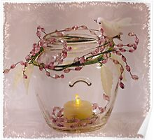 Beaded Candle Jar Poster