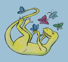 Iss-raaaaah the Velociraptor and the Butterflies Kids Tee