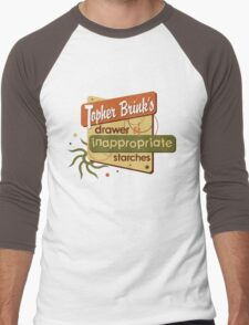 Inappropriate Starches Men's Baseball ¾ T-Shirt