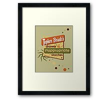 Inappropriate Starches Framed Print