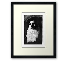 Bearded portrait. Framed Print