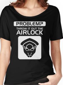 Throw it Out the Airlock in White Women's Relaxed Fit T-Shirt