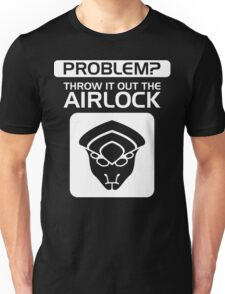 Throw it Out the Airlock in White Unisex T-Shirt