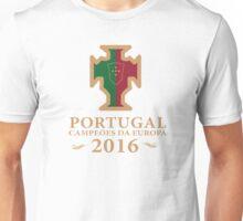Portugal Euro 2016 Champions T-Shirts etc. ID-4 on White Unisex T-Shirt