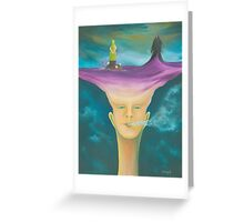 ONE TOKE OVER THE LINE Greeting Card