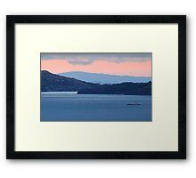 Dusk Cruise on the San Francisco Bay Framed Print