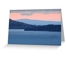 Dusk Cruise on the San Francisco Bay Greeting Card