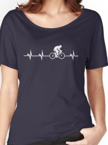 Cycling Heartbeat Women's Relaxed Fit T-Shirt