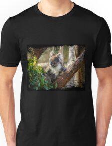 Koala eating a gum leaf Unisex T-Shirt