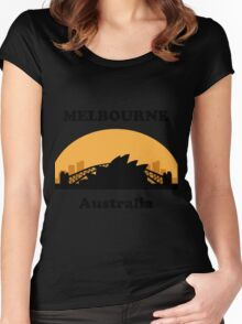 Sydney Tourist, Melbourne Clueless Women's Fitted Scoop T-Shirt