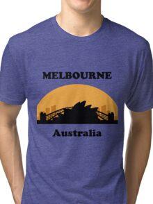 Sydney Tourist, Melbourne Clueless Tri-blend T-Shirt