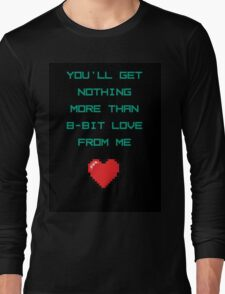 8 Bit Love Long Sleeve T-Shirt