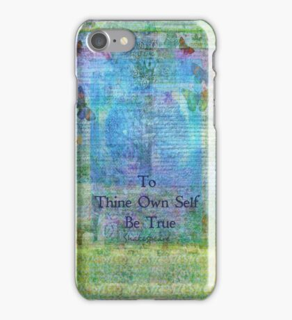 To Thine Own Self Be True,  Shakespeare Quote  iPhone Case/Skin