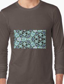 Icy hexagonal kaleidoscope pattern Long Sleeve T-Shirt