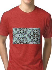Icy hexagonal kaleidoscope pattern Tri-blend T-Shirt