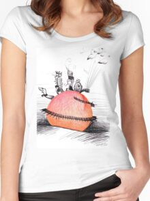 Not So Giant James and The Peach Women's Fitted Scoop T-Shirt
