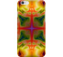 Soft drawing with colorful patterns in batik iPhone Case/Skin