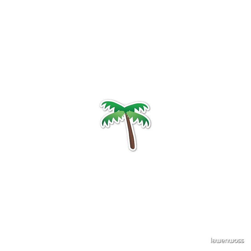 Quot Palm Tree Emoji Quot Throw Pillows By Lawenwoss Redbubble