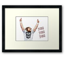 Daniel Bryan - YES! YES! YES! Framed Print