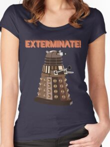 Dalek Exterminate! Women's Fitted Scoop T-Shirt