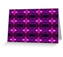 Purple Stamen Patterns Greeting Card