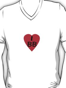 I Love BB - Country Code Barbados T-Shirt & Sticker T-Shirt