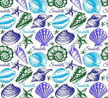 Seashell sketch pattern by pimlena